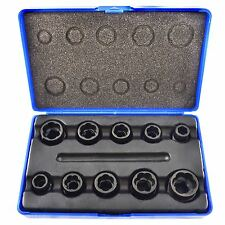 "10pc 3/8"" Bolt Nut Twist Socket / Wheel Lock Nut Remover / Extractor Set AT080"