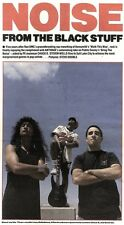 22/6/91 Pgn14 Article & Picture noise From The Black Stuff Anthrax Reworking Roc