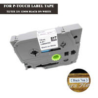 Compatible Brother TZ-231 TZe 231 P-Touch Black on White Label Tape 12mm