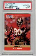 Jerry Rice Signed/Autographed PSA Slabbed NFL Pro Set trading card