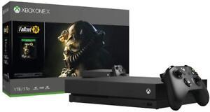 Xbox One X CYV-00146 1TB 4K Ultra HD Blu-ray Console with Fallout 76 Bundle -...