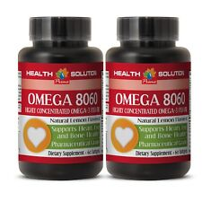 weight loss and cholesterol control - OMEGA 8060 - omega 3 nutrigold - 2 Bottles