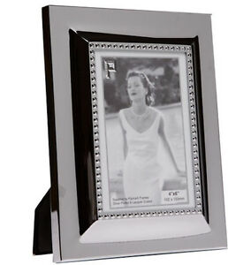 """Silver Photo Picture Frame 4x6"""" & 5x7"""" - Inner Bead Design - Shiny Silver"""