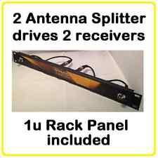 ASP22 Antenna Splitter- Wireless Microphone  1u Dual 2 way-BNC -Shure, AT, Sennh