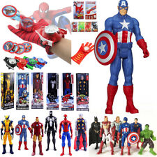Superhero Avengers Hulk Iron Man Action Figures Toy Doll Launcher Gloves Cosplay
