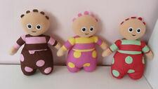 "Bundle Set of 3 In the Night Garden Tombliboos Soft Plush Toys Unn Eee Ooo 9"""