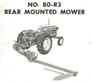 Allis Chalmers No. 80-R3 3pt Hitch Sickle Mower Owner's Parts Manual Setting Up