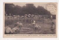 Thelon Etang De La Folie Plage Hotel Restaurant France Vintage Postcard US073