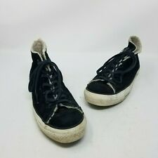 Converse Leather Shearling All Star Chuck Taylor Hi Tops Sneakers Shoes Womens 8