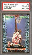 1992 Stadium Club Beam Team #1 Michael Jordan PSA 8 09027456