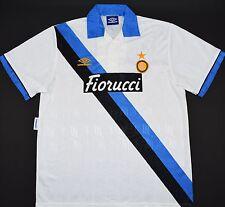 1993-1994 INTER MILAN UMBRO AWAY FOOTBALL SHIRT (SIZE XL)