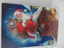 Christmas cards Santa Gift chimley lot of 6 holiday note Santas village envelope