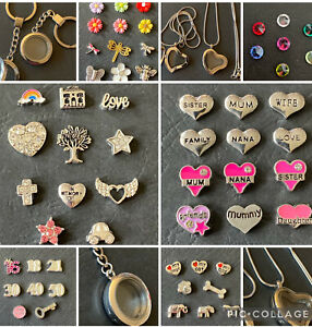 Memory Locket And Any 6 Floating Charms (Necklace Or Keyring)