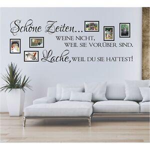 Spruch WANDTATTOO Schöne Zeiten Lache Bilderrahmen Foto Wandsticker Aufkleber 3