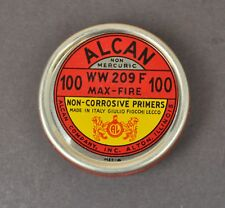 Vtg Alcan Primer Caps Tin Ww 209 F Max - Fire Non Corrosive Primers Empty Tin