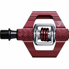 Crank Bros Clipless Mountain Bike Pedals - Candy 3  Maroon Red / Red Spring