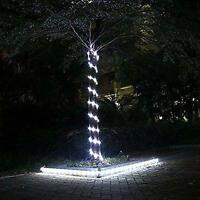 23ft 50LED Solar Power Rope Tube Lights Strip Waterproof Outdoor Garden White EL