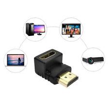 2Pcs 90 Degree HDMI Cable Adapter Converter For TV PS3 Xbox 360 PC DVI HDTV TEUS
