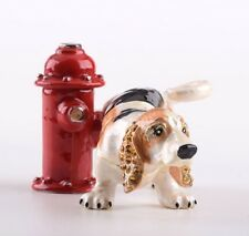 Faberge  Dog Trinket box hand made by Keren Kopal with Austrian crystals