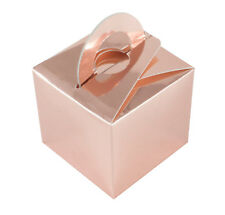 10 x Rose Gold Latex Helium Balloon Weight Favour Boxes Wedding Party Decoration