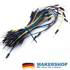 65 Jumper Wire Steckbrett Steckboard Steckbrücken Raspberry Pi Arduino Kabel ...