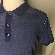 HUGO BOSS Orange Label Men's Saltwash Blue Polo Golf Shirt Sz Medium M ****