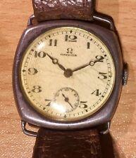 Orologio vintage originale OMEGA da 1925 caso SILVER QUADRATO non Avvolgimento/lavoro