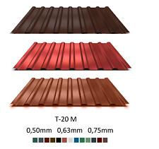 Trapezblech Dachblech, Trapezbleche Dachplatten T-20M 0,50-0,75mm    (9,36 €/m2)