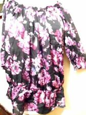 Plus Career Floral Polyester Tops & Blouses for Women