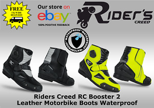 Riders Creed RC Booster 2 Leather Motorcycle Boots - Waterproof