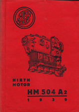 Hirth HM 504 Motor Engine Service Parts Manual 1930's 40s WW2 Bu-131 RARE DETAIL