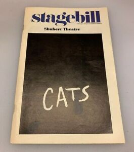 Stagebill Shubert Theatre Cats Chicago Illinois IL April 1985
