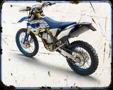 HUSABERG fe 570 12 2 A4 Metal Sign moto antigua añejada De