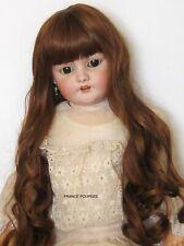 """perruque Auburn/châtain Jumeau®T40/41cm-poupée ancienne moderne-Doll wig sz16"""""""