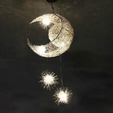 Moon & Star Pendant Lamp Chandelier Light Ceiling For Kid's Child Bedroom