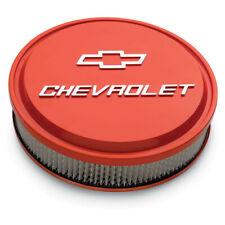 "Proform 141-831 14"" Aluminum Chevrolet Logo Air Cleaner Assembly - Chevy Orange"
