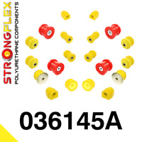 PU Buchsensatz Kit VA+HA für BMW E46 3er StrongFlex 90ShA gelb SPORT