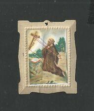 Estampa antgua de San Francisco de Asis image piese santino holy card
