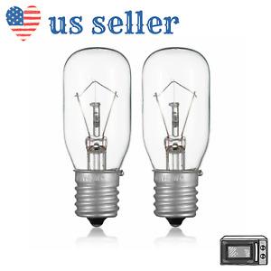 Microwave Bulbs 125V 40W Replace GE #WB36X10003 KM LG E17 Base Socket Lamp, 2Pac