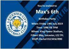 ******20 Leicester City FC Birthday Invitatons with FREE Envelopes******