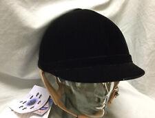 New With Tags Lami Cell Black Velvet Show Helmet Equestrian Horse Hunt, Sz 7 5/8
