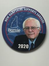 """2020 Bernie Sanders for President 3"""" Button New Hampshire Supports Sanders Pin"""