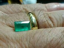 1.4 cts 100% Natural Green Colombian Emerald Certified - Deep green