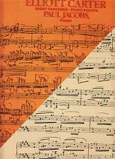 ELLIOT CARTER-NIGHT FANTASIES-PIANO SONATA-PAUL JACOBS-NONESUCH LP 1983 VG+