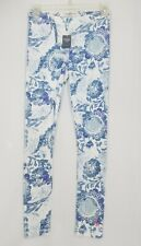 New w/ Tags Womens Small Leggings Abercrombie & Fitch Blue White Perfect Stretch