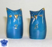 9942016 Wagner & Apel Porcelain Salt and Pepper Shaker Design Owls H7cm
