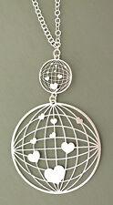 Silberkette und Anhänger Silber 925 Herzen Kette Collier - Silberarmband Herzen
