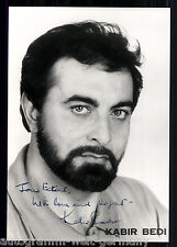 Kabir Bedi photo ORIGINALE signée + G 8600