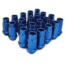 M12 X 1.5mm Aluminum Wheel Lug Nuts Blue 20 Piece EK EG SI EF S2K Accord TL RSX
