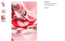 Women's KATE SPADE NEW YORK Nesting Dolls Silk Scarf Color Red & Pink Ooh La La